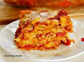 Przepis na Lasagne. Lazania bez sosu beszamelowego jest równie smaczna. Przepis dla wielbicieli Lazanii w sosie pomidorowym.
