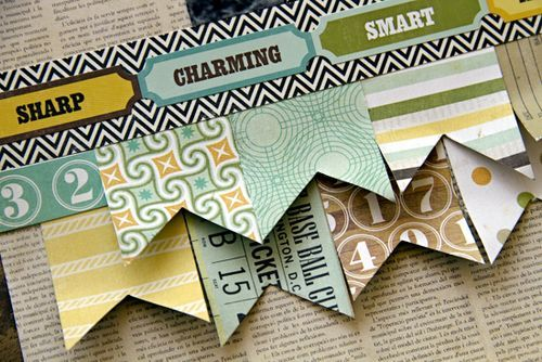 Learn how to create a banner with designer Leslie Ashe. Great tips!Scrapbook Ideas, Pattern Paper, Banners Ideas, Amazingclose1 Tutorials, Banners Border, Design Leslie, Paper Banners, Scrapbook Pages, Paper Crafts