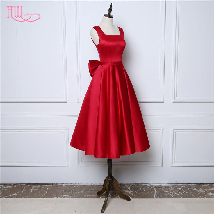 Fashion 1950's Prom Dresses Cheap Burgundy Red Short Tea Length Cocktail Party Dress 2017 Junior Vestidos De Baile Real Photo-in Prom Dresses from Weddings & Events on Aliexpress.com | Alibaba Group
