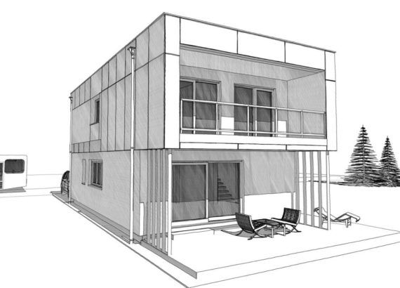 Modernes Design Elk Haus 132 Mit Flachdach Elk Fertighaus Hausbaudirekt Engenheiros Civis Ponto De Fuga Projetos