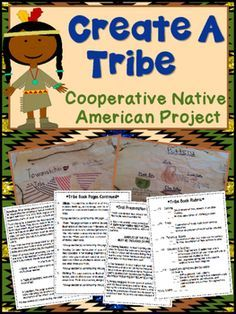 Hi Fellow Teachers!Thank you for viewing this product. This in-class project is a perfect way to wrap up a Native American Unit. Students are placed into groups made up of 3-4 students. Using what they know from the Native American study done in class, students are asked to create a NEW Native American tribe.