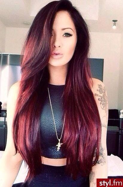 long hair extensions red coloring highlights http://tomybsalon.com/best-hair-extensions-in-the-long-island-area/