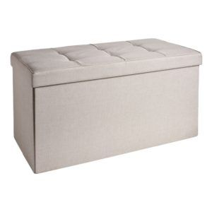 Cream Faux Leather Cd Storage Boxes