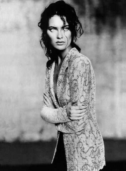 """Model Shalom Harlow for Giorgio Armani campaign"" 1998, photo by Italian photographer PAOLO ROVERSI"