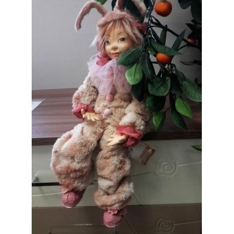 "Teddy doll ""My bunny"". Author Tatiana Polevschikova - http://arthandmade.net/polevshikova.tatyana  Doll, teddy, teddy doll, collectible doll, handmade doll, gift, original gift, handmade, craft, collection, Gallery Magical World, кукла, купить куклу, тедди, тедди долл, коллекционная кукла, кукла ручной работы, подарок, оригинальный подарок, ручная работа, коллекция, Галерея Волшебный мир"