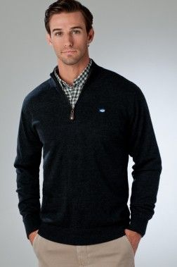Merino 1/4 Zip Pullover | Preppy Mens Clothing | Southern Tide