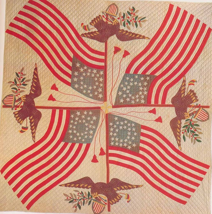 Applique Quilt, 1850. Baltimore, Maryland.