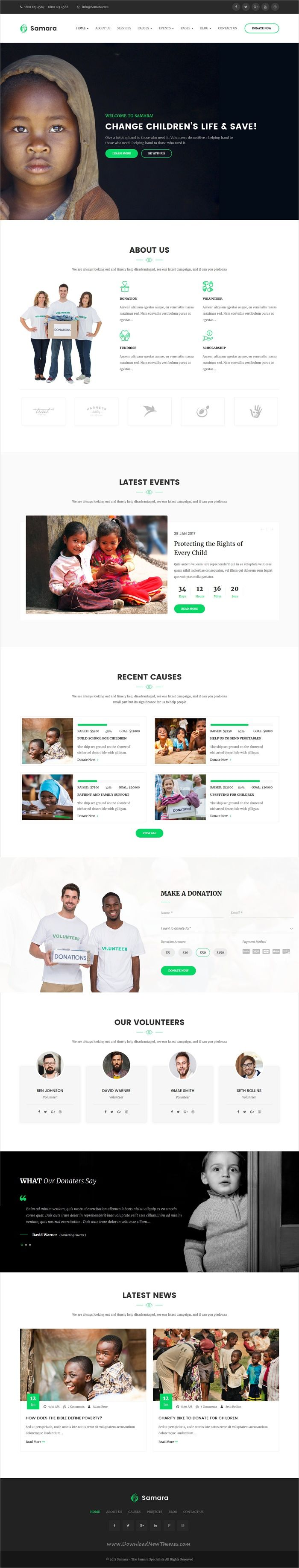 Samara is clean and modern design 3in1 responsive #HTML bootstrap template for #charity and #nonprofit organization website download now➩ https://themeforest.net/item/samara-responsive-html-template-for-charity-fund-raising/19767838?ref=Datasata