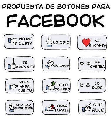 Propuesta de nuevos botones para FaceBook #infografia #infographic #socialmedia #humor   TICs y Formación