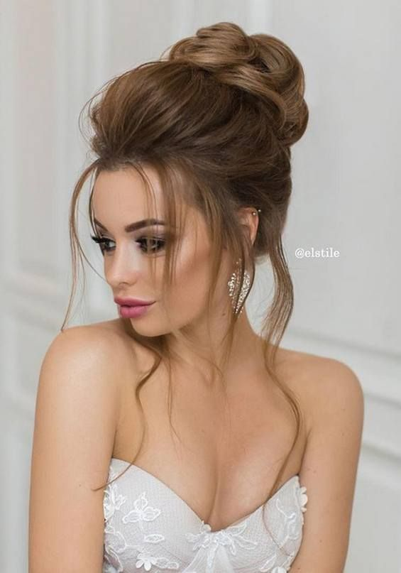 Long Wedding Hairstyles & Bridal Updos via Elstile / http://www.deerpearlflowers.com/long-bridesmaid-hair-bridal-hairstyles/