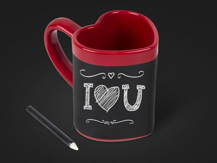 Love Heart Message Mug - skriv søde beskeder! Coolstuff.dk
