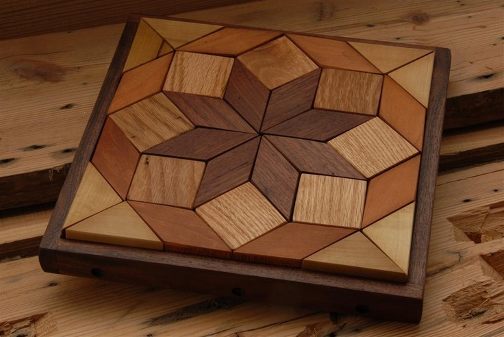 This one is for little people and big people. A beautiful hardwood pattern puzzle, great for quilters!