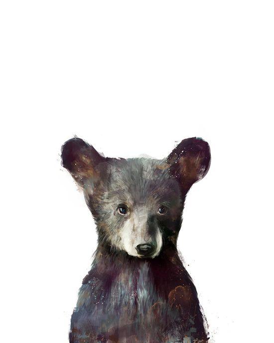 Little Bear Canvas Print || Amy Hamilton via Society6