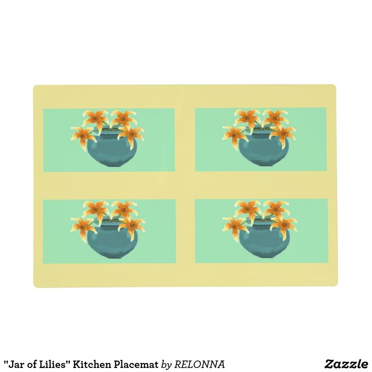 """Jar of Lilies"" Kitchen Placemat"