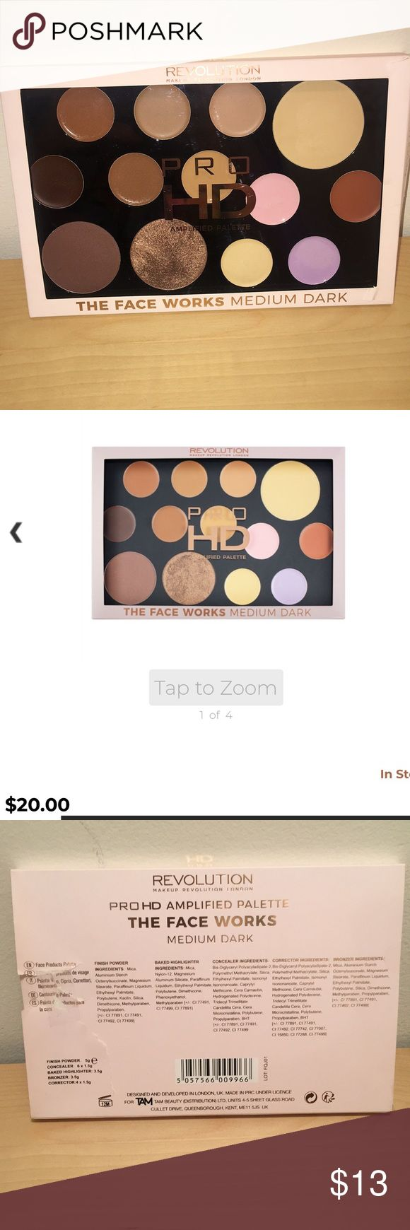 Makeup Revolution Pro HD Palette NEW! Only swatched the
