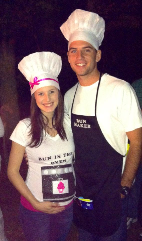 custom order for bun maker bun in the oven couple maternity halloween party chef costume - Pregnant Halloween Couples Costumes