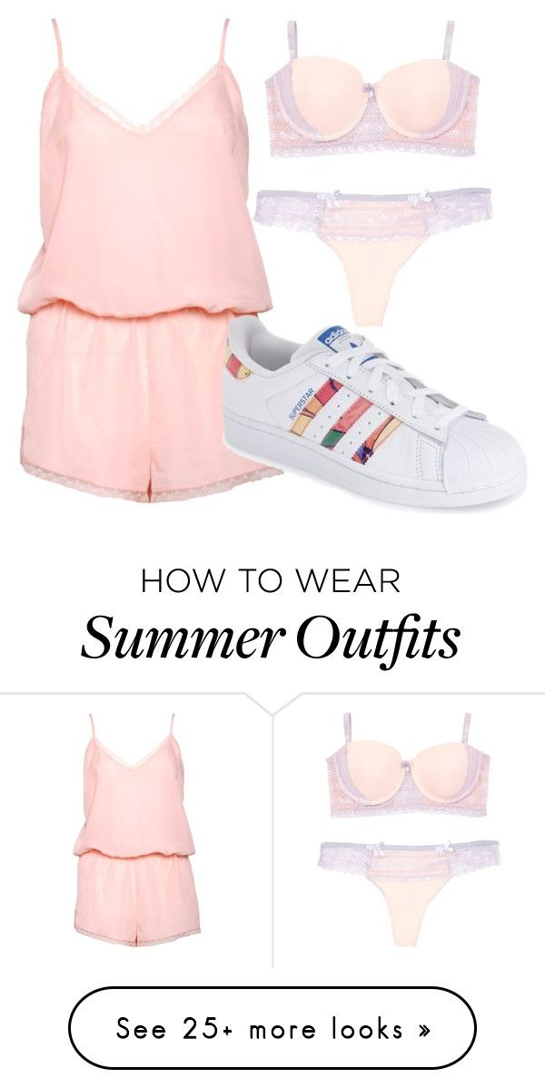 """""""Simple summer outfit"""" by fangirling on Polyvore featuring Boux Avenue and adidas"""