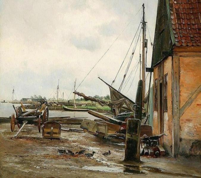 Carl Frederic Aagaard (1833-1895): Efter Regnen. Motiv fra Kastrup, 1888