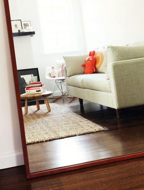 Norman + Quaine hudson sofa with mokum seabreeze fabric.