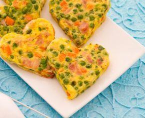 Receta infantil fácil: tortilla de verduras para niños. #ChocolistoYListo