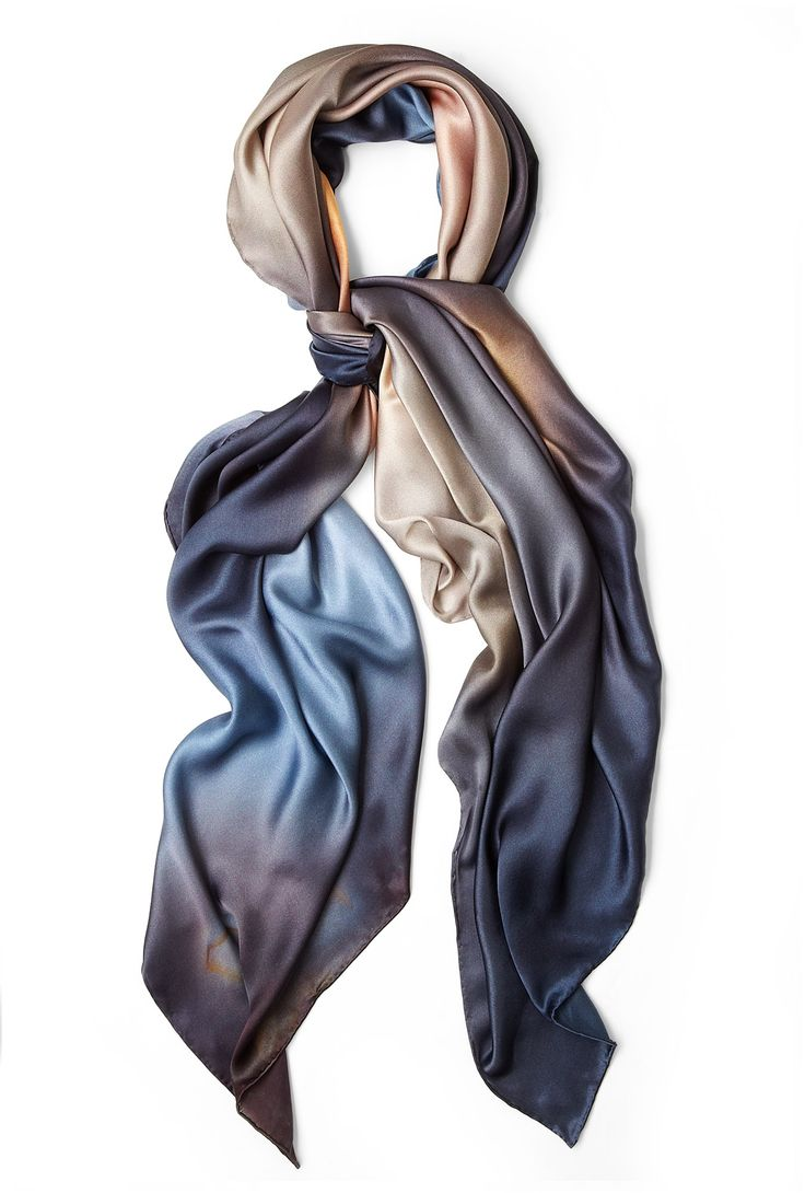 Madagascan Agate Silk Scarf by Weston