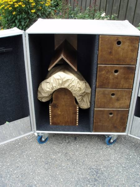 tack room lockers!! LOVE this!-if we have to put the saddles in the house!