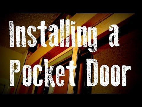 Installing a Pocket Door Remodel Guide: without Removing the Drywall..Basement Bathroom