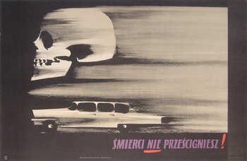 Title: Smierci Nie Przescigniesz [Death Will Not Overtake]. Designer: Cieslewicz. 1957. £425