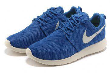 Nike Roshe Run Mesh Womens Blue White Shoes