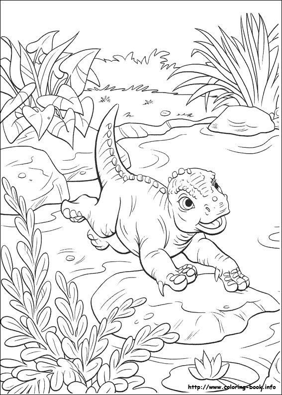 Baby aladar  67 Dinosaur coloring pictures