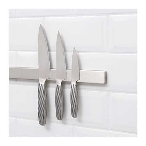 GRUNDTAL Magnetic knife rack IKEA The knife rack makes it easy for you to see and reach all your different knives when you cook.