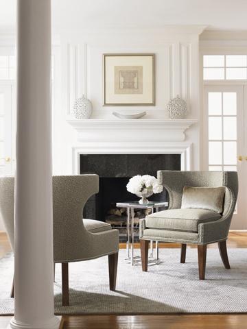 Lexington Home Brands, Mirage Greta Chair · Warm GreyLiving Room ...