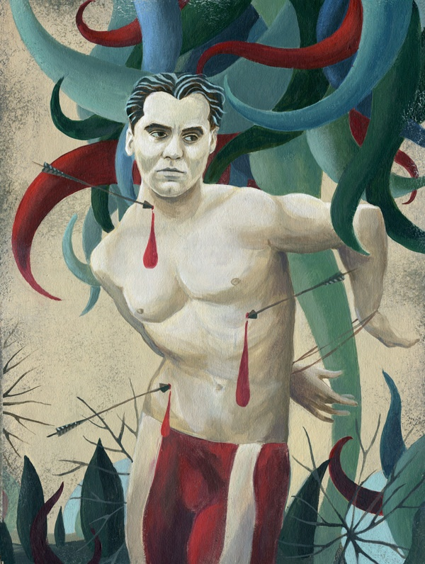 Portrait of Federico Garcia Lorca by Alice Wellinger, via Behance