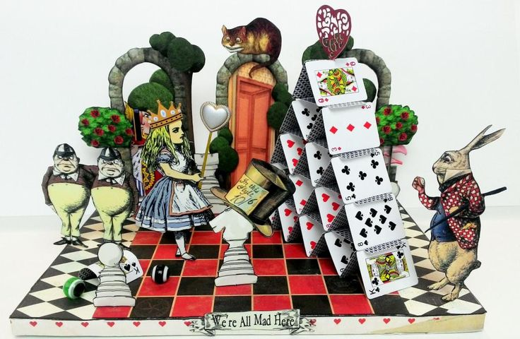 Artfully Musing: Alice in Wonderland Tarot Cards, Wonderland Scene, New Collage Sheets and Digital Image Set - Free Tarot Card Label Collage Sheet
