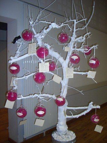 Arbre a boules mariage no l boule transparente for Decoration or rose