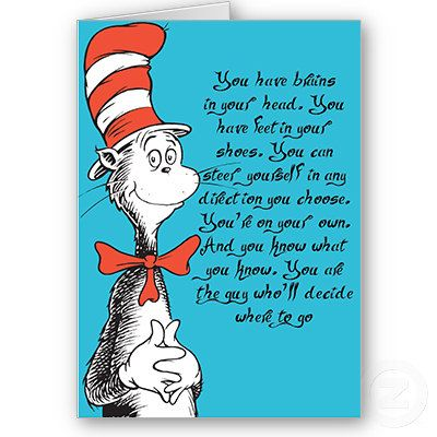Dr. Seuss Graduation Card Congratulations fun card Kindergarten ...