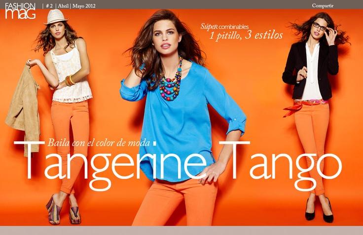 Fashion Mag #2. Baila con el color de moda #tangerinetango :)