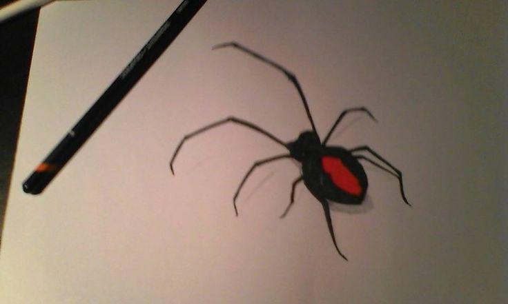 3D drawing spider by Mampower1.deviantart.com on @DeviantArt
