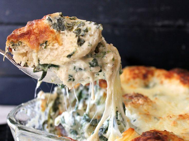 ~Spinach & Artichoke Bubble Bake!