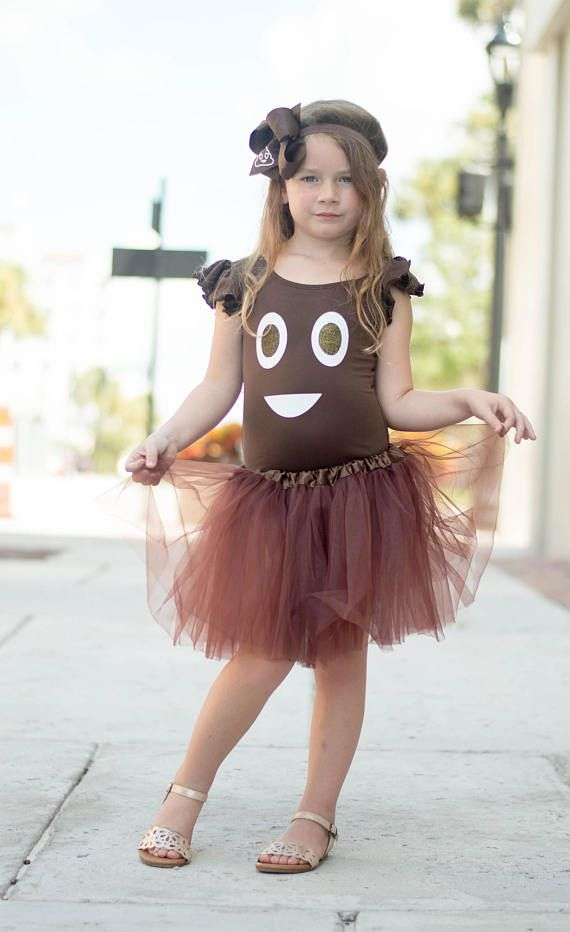 It's everyone's favorite EMOJI in a costume! Yep, that's right! SOU has released it's very own Girls Poop Emoji Costume and we just know your little girl will love it!  Halloween parties, fall festivals, or trick or treating, all eyes will be on her as she walks the town in her Emoji Costume! Warning: This costume is known to make the wearer laugh randomly and get conversations started!  Full Costume includes Brown Leotard with Poop design, tutu, and matching hair bow. Don't need the whole…