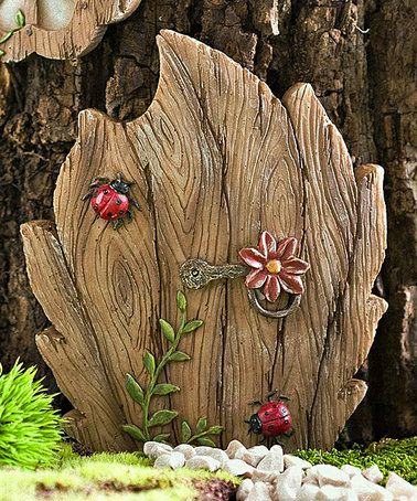 Loving this Miniature Fairy Garden Daisy Door Tree Accent on #zulily! #zulilyfinds