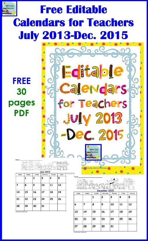 editable calendar 2015