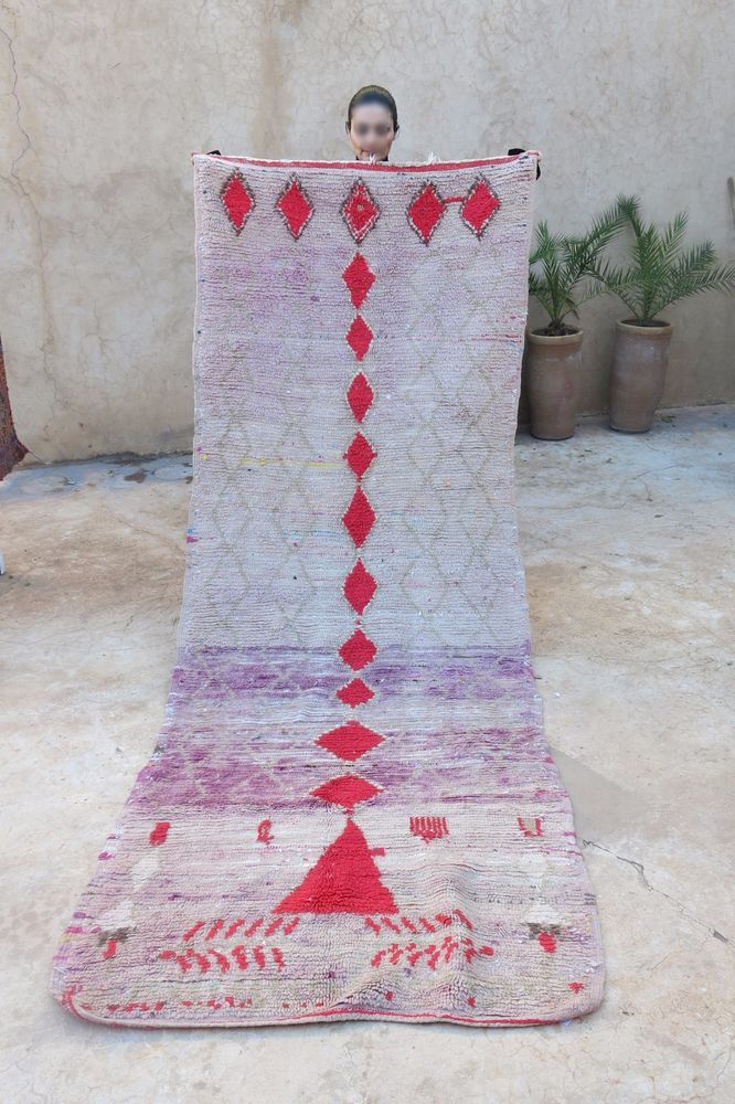 "Type of Rug: Boujad. Size: 3'8"" x 9'9"" feet. Country of Origin: Morocco. 