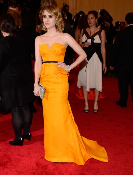 Emma Roberts in Escada: Color, Met Gala, Emma Roberts, Dress, Red Carpet, Costume, Met Ball, Ball 2012, Gala 2012