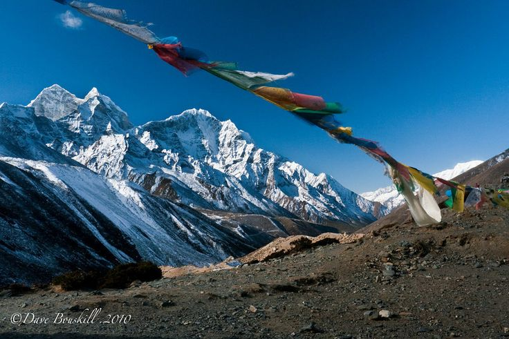 Trekking to Mount Everest Base Camp was on of our most memorable adventure travel moments - We were rewarded with this beautiful photograph of prayer flags in the Himalayas.