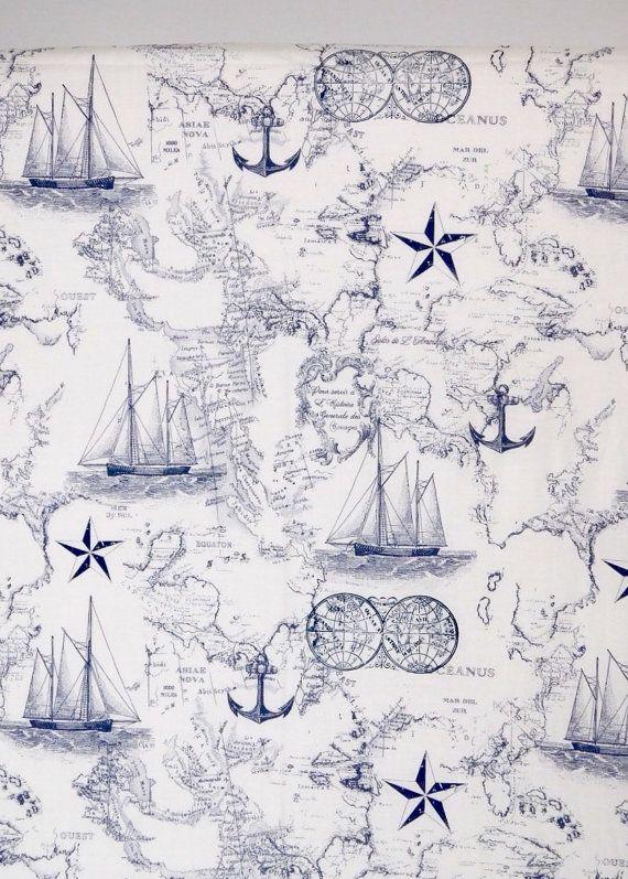 Nautical crib sheet Nautical nursery Nautical by BabyQuiltsbyRomiW