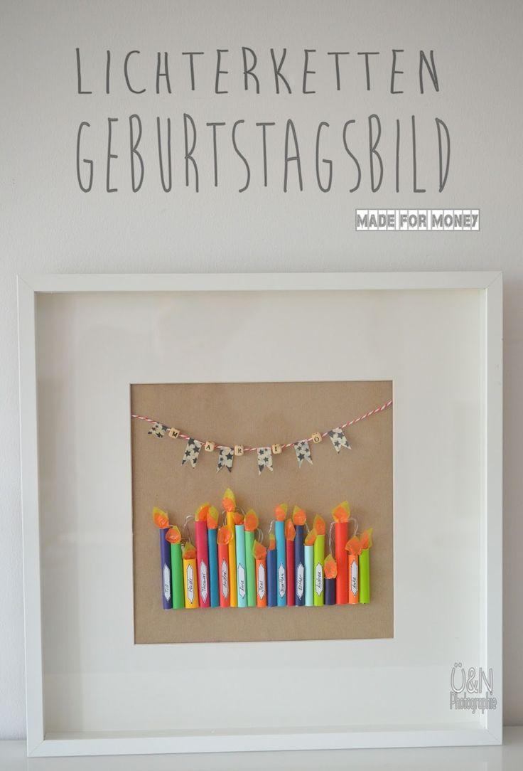 Überall & Nirgendwo: Ein Lichterketten Geburtstagsbild (made for money) und eine total taffe Nachbarin, die´s schrecklich gut mit mir aushält ;-)!