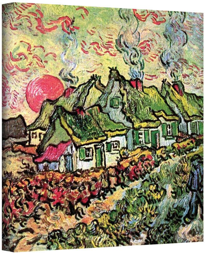 """Art Wall 32'' x 24'' """"Cottages Reminiscent of the North"""" Canvas Wall Art by Vincent van Gogh"""