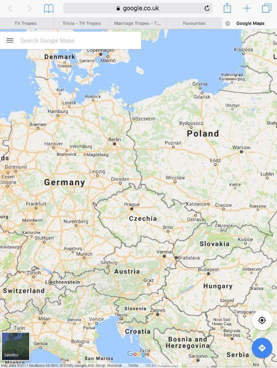 Google maps : Finally: ČESKO / CZECHIA #google #maps #GoogleMaps #Czechia #Česko