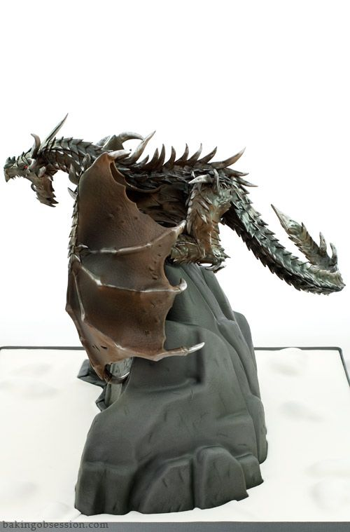 Alduin the World Eater Dragon Cake  OMG THIS IS A REAL EATABLE CAKE, YOU MUST TAKE A PEEK!!!